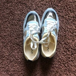 Qupid Tennis Shoes with clear panels